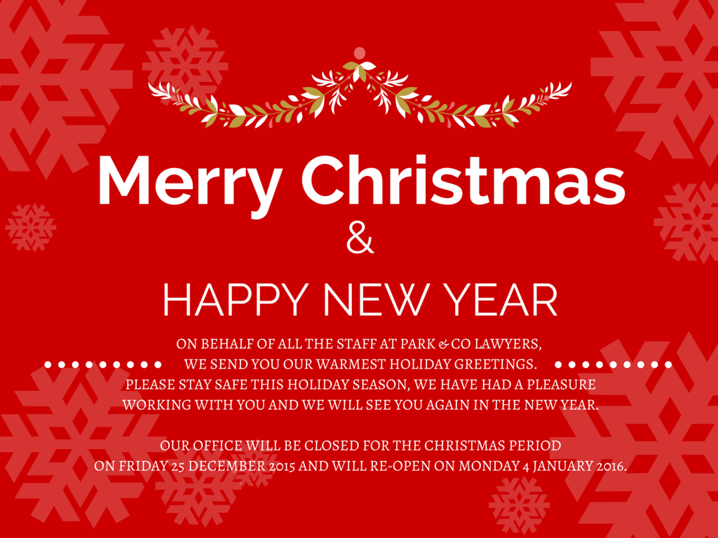 Park Co Lawyers 2015 Merry Christmas Amp Christmas Hours Blog